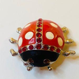 Ladybug Brooch Pin - Vintage